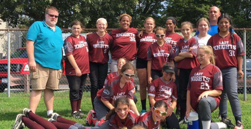 12U Lady Knights Sweep Double Header