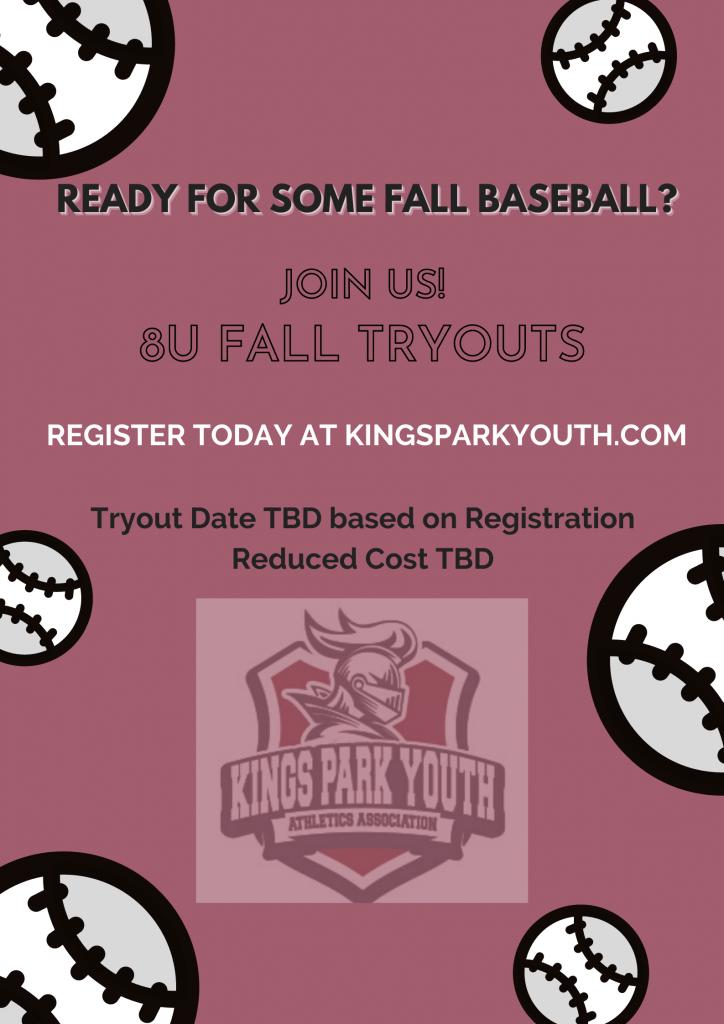 8U Fall Baseball Tryouts